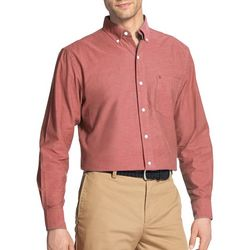 IZOD Mens Oxford Solid Woven Long Sleeve Shirt