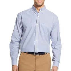 IZOD Mens Stripe Button Up Long Sleeve Shirt