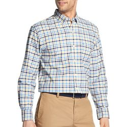 IZOD Mens Oxford Madras Plaid Print Woven Long Sleeve Shirt