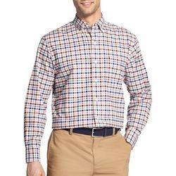 IZOD Mens Oxford Madras Plaid Print Long Sleeve Shirt