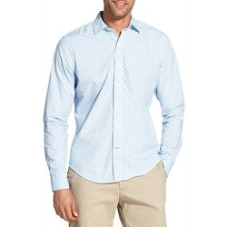 IZOD Mens Saltwater Diamond Print Woven Long Sleeve Shirt