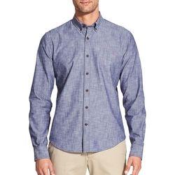 IZOD Mens Saltwater Scored Woven Long Sleeve Shirt