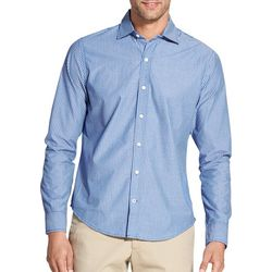IZOD Mens Saltwater Stripe Woven Long Sleeve Shirt
