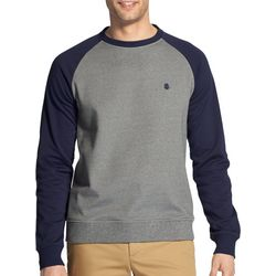 IZOD Mens Advantage Colorblock Raglan Pullover Sweatshirt