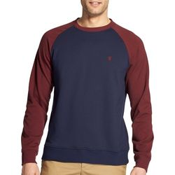 IZOD Mens Advantage Raglan Colorblock Pullover Sweatshirt