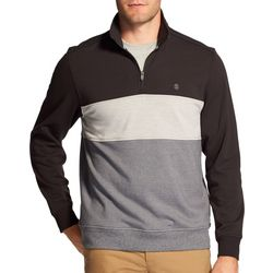 IZOD Mens Advantage Colorblock 1/4 Zip Pullover Sweatshirt