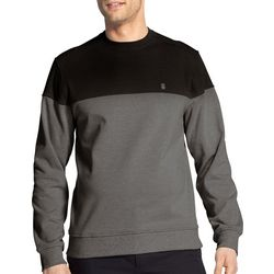 IZOD Mens Advantage Heather Colorblock Pullover Sweatshirt