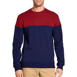 IZOD Mens Advantage Colorblock Crew Pullover Sweatshirt