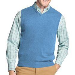 IZOD Mens Premium Essentials Solid Sweater Vest
