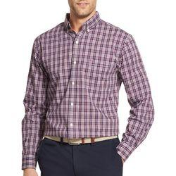 IZOD Mens Premium Essentials Checkered Plaid Button Up Shirt