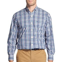 IZOD Mens Plaid Print Woven Long Sleeve Shirt