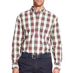 IZOD Mens Tartan Plaid Button Down Long Sleeve Shirt