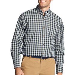 IZOD Mens Tartan Plaid Long Sleeve Shirt