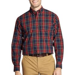 IZOD Mens Tartan Plaid Printed Long Sleeve Shirt