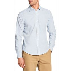 IZOD Mens Saltwater Mini Stripe Woven Long Sleeve Shirt