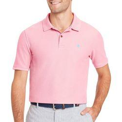 IZOD Mens Advantage Contrast Logo Polo Shirt