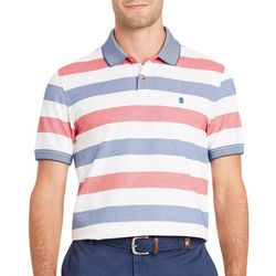 IZOD Mens SportFlex Light Striped Stretch Polo Shirt