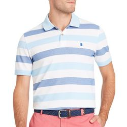 IZOD Mens SportFlex Stripe Print Stretch Polo Shirt