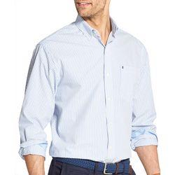 IZOD Mens Stripe Print Yarn Dyed Long Sleeve Shirt