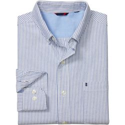 IZOD Mens Saltwater Stripe Button Down Long Sleeve Shirt