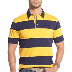 IZOD Mens Classic Rugby Stripe Polo Shirt