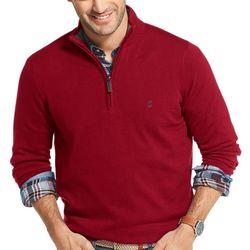 IZOD Mens Saltwater Quarter Zip Pullover Sweater