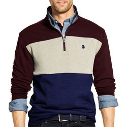 IZOD Mens Advantage Performance Quarter Zip Pullover