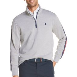 IZOD Mens Advantage Performance Heather Zip Placket Pullover