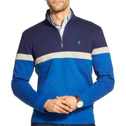 IZOD Mens Advantage Performance Zipper Placket Pullover