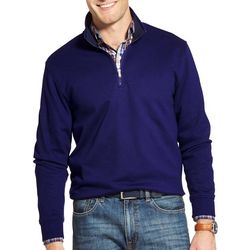 IZOD Mens Advantage Performance Fleece Quarter Zip Pullover
