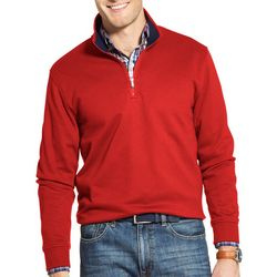 IZOD Mens Advantage Performance Fleece Quarter Zip Pullover