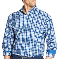 IZOD Mens Yarn Dyed Plaid Button Down Long Sleeve Shirt