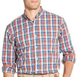 IZOD Mens Premium Essentials Plaid Button Down Shirt