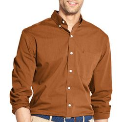 IZOD Mens Micro Stripe Yarn Dyed Long Sleeve Shirt