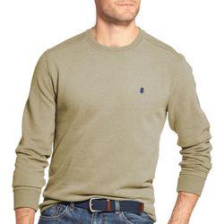 IZOD Mens Solid Fleece Crew Neck Pullover