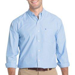 IZOD Mens Advantage Cool FX Plaid Long Sleeve Shirt