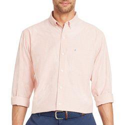 IZOD Mens Check Print Long Sleeve Shirt