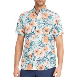 IZOD Mens Dockside Island Floral Short Sleeve shirt