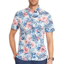 IZOD Mens Dockside Reverse Floral Print Woven Top