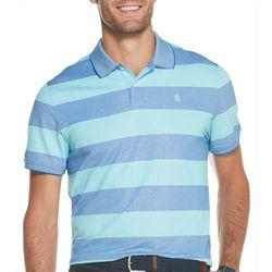 IZOD Mens Advantage Rugby Striped Short Sleeve Polo Shirt
