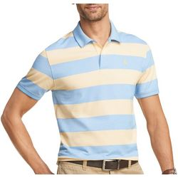 IZOD Mens Advantage Rugby Striped Short Sleeve Polo
