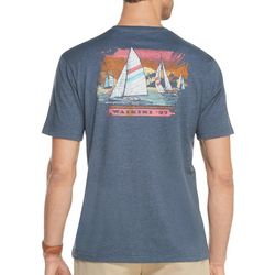 IZOD Mens Sailboat Heathered Short Sleeve T-Shirt