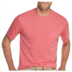 IZOD Mens Solid Soft Pocket Short Sleeve T-Shirt