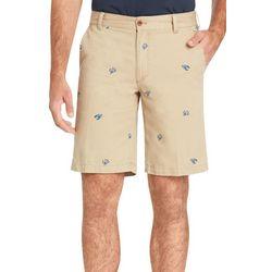 IZOD Mens Saltwater Stretch Lobster & Crab  Print Shorts