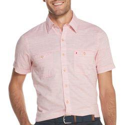 IZOD Mens Saltwater Chambray Short Sleeve Shirt