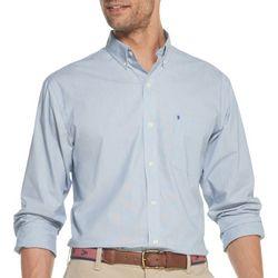 IZOD Mens Premium Essentials Pinstripe Button Down Shirt