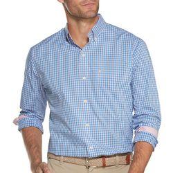 IZOD Mens Premium Essentials Gingham Button Down Shirt