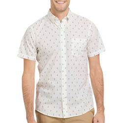 IZOD Mens Advantage Cool FX Anchor Print Short Sleeve Shirt
