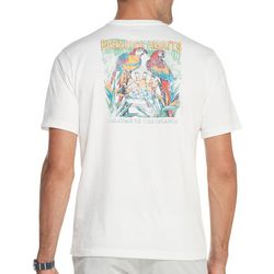 IZOD Mens Paradise Awaits Parrot Short Sleeve T-Shirt