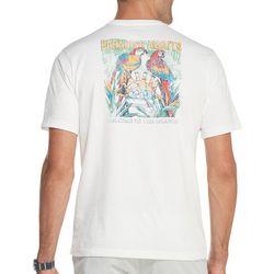 IZOD Mens Paradise Awaits Parrot Short Sleeve T-Shirt